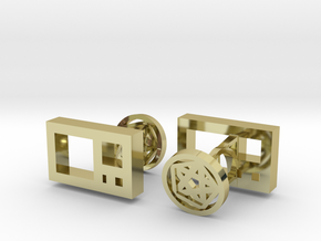 Golden Ratio Cufflinks in 18K Gold Plated