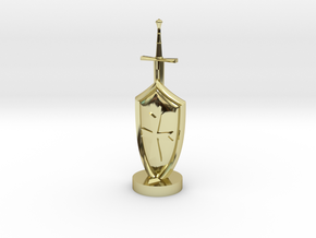 Role Playing Counter: Sword & Shield in 18K Gold Plated