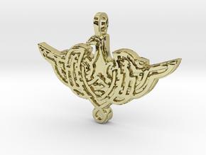 Celtic Bird Medallion in 18K Gold Plated