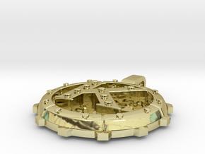 "Steampunk Monogram Pendant ""K"" in 18K Gold Plated"