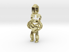 Little Droid heart Pendant in 18K Gold Plated