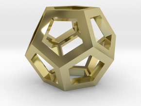 Dodecahedron Necklace Pendant in 18K Gold Plated
