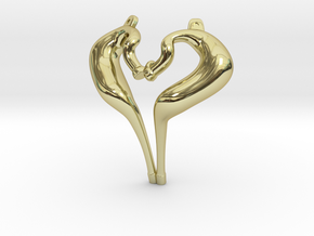 I Love 2-strokes Pendant Motorcycle Pipes in 18K Gold Plated