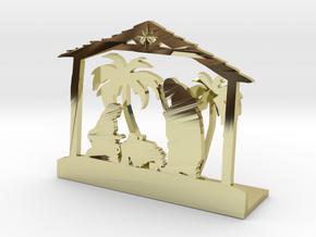 Nativity Scene in 18K Gold Plated