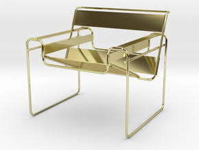 "Wassily Chair 3.7"" tall in 18K Gold Plated"