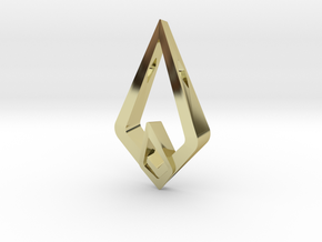 HIDDEN HEART Luna, Pendant. Sharp Chic in 18K Gold Plated