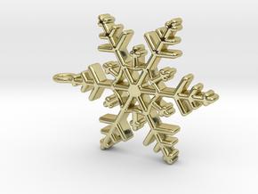 Schneeflocke  mit Öse in 18K Gold Plated