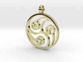 Trinity Pendant in 18K Gold Plated