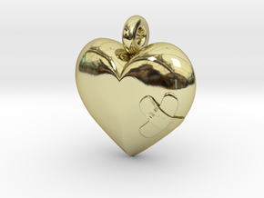 Wounded Heart Pendant in 18K Gold Plated