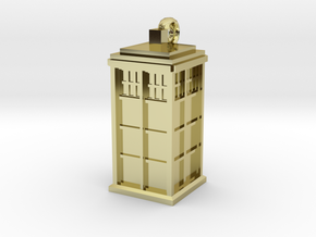 Tardis (T.A.R.D.I.S.) necklace charm in 18K Gold Plated
