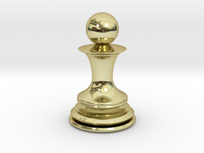Chess Pawn in 18K Gold Plated