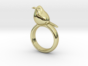 Ring with a bird on top of it in 18K Gold Plated