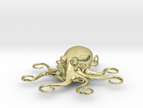 Octopus Pendant in 18K Gold Plated