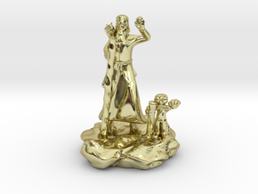 Foodle, the Rock Gnome Hermit Sorcerer Mini in 18K Gold Plated