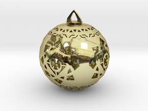 Scifi Ornament 1 in 18K Gold Plated