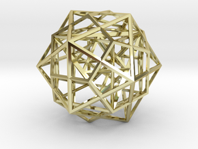 Nested Platonic Solids in 18K Gold Plated