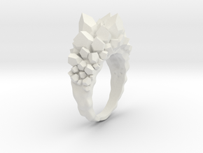 Crystal Ring size 7 in White Natural Versatile Plastic
