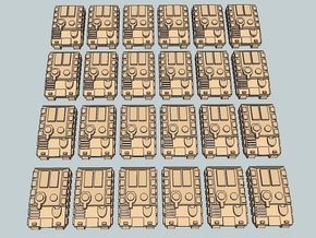 """""""Team Sabre"""" 3mm Tracked APCs (24 Pcs) in White Strong & Flexible"""