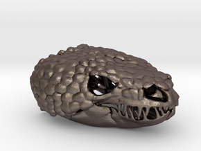 Gila Monster Pendant - Life-sized (75mm) in Polished Bronzed Silver Steel