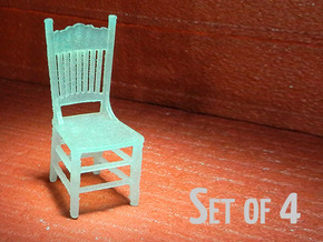 1:48 Kitchen Chair, Set of 4 in Smooth Fine Detail Plastic