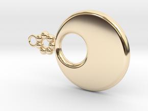 Hole Earring in 14K Yellow Gold