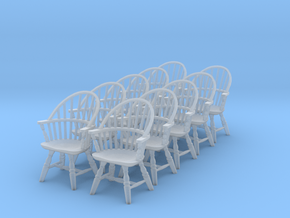 1:48 Windsor Sack Back Chair (Set of 10) in Frosted Ultra Detail