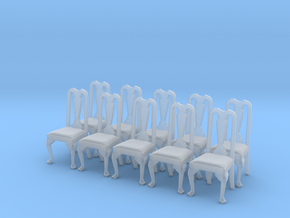 1:48 Queen Anne Chair (Set of 10) in Frosted Ultra Detail