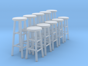 1:48 Stools (Set of 10) in Smooth Fine Detail Plastic