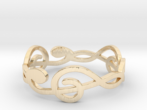 Size 8 G-Clef Ring A in 14k Gold Plated Brass