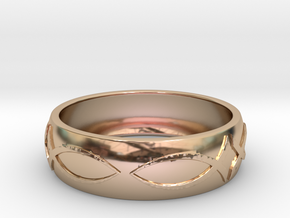 Size 10 Ring  in 14k Rose Gold Plated Brass