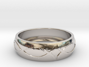 Size 8 Ring  in Rhodium Plated Brass