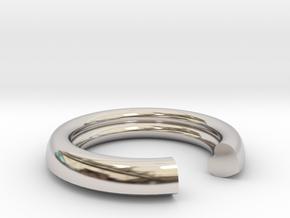 Secret Heart Ring 20 mm x 20 mm in Platinum