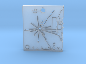 Pioneer Plaque Pendant in Smooth Fine Detail Plastic