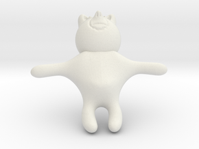Bear 2 in White Natural Versatile Plastic