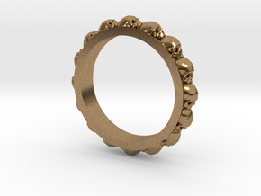 Skull Eternity Style Size 7 in Natural Brass