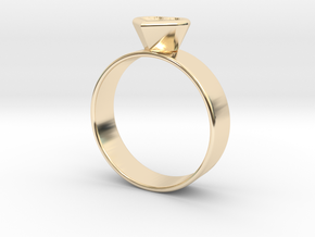 Ring with heart in 14K Yellow Gold