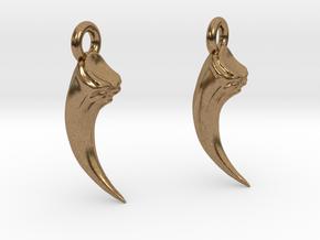 Talon Earings (pair) in Natural Brass