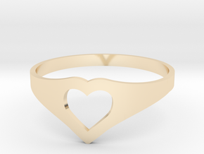 Negative Space Heart Ring (Sz 6) in 14K Yellow Gold