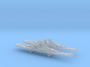 WWII 1/4800 US Alaska class battlecruisers (x2) in Smooth Fine Detail Plastic