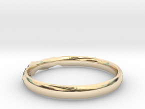 Shadow Ring US Size 8.5 in 14K Yellow Gold