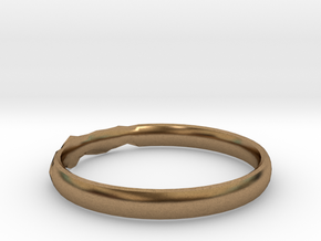 Shadow Ring US Size 8.5 in Natural Brass