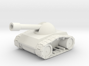 Tank-1 in White Natural Versatile Plastic
