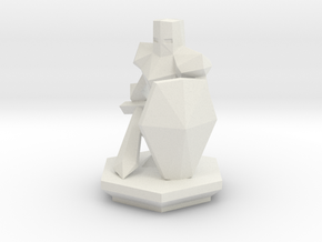 Low Poly Knight (Table-Top Alliance Base Unit) in White Strong & Flexible