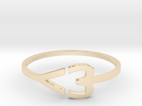 I heart Ring in 14K Yellow Gold: 7.5 / 55.5