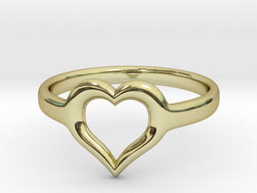 Heart Ring Size 7 in 18k Gold Plated