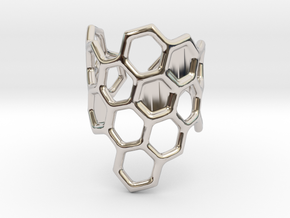 Honeycomb Ring in Platinum