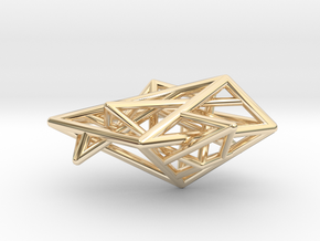 Angular Complexity Necklace in 14k Gold Plated Brass