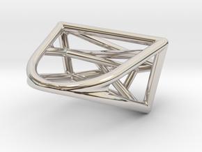 Urban Development Ring in Rhodium Plated Brass