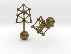 Atomium Cufflinks in Polished Bronze