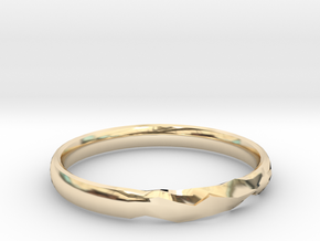 Shadow Ring US Size 7 UK Size O in 14k Gold Plated Brass